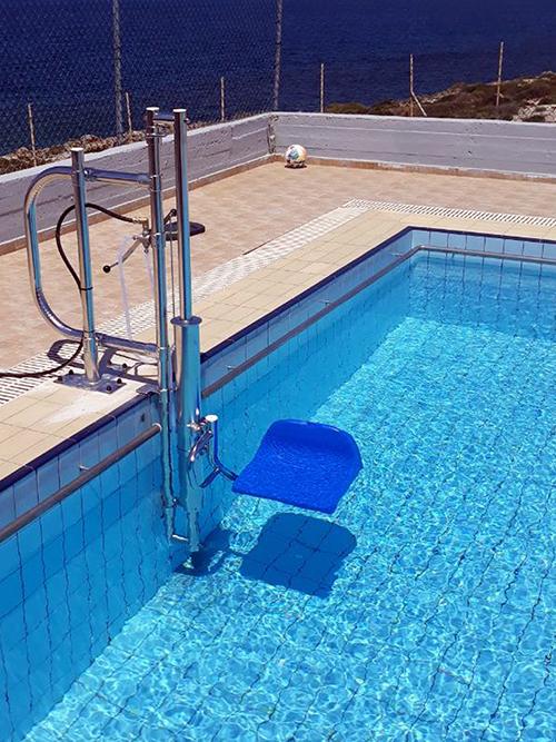 Νέα εγκατάσταση Pool Lift, σε Παιδικές Κατασκηνώσεις στα Χανιά!